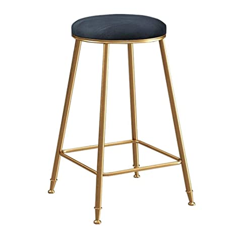 Pleasant Amazon Com Famay Kitchen Barstool With Gold Iron Legs And Creativecarmelina Interior Chair Design Creativecarmelinacom