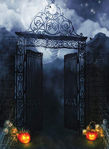 5x7ft Halloween Theme Backdrop Mysterious Door Hallowmas Party