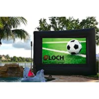 SUPREME LOCH IWS200. Inflatable Projection Screen (24 Foot Diagonal Total View Area 200)-Outdoor Movies Cinema - Include Blower,Bag, Ropes, Stakes (24 Foot Diagonal Total (View Area 200 Diagonal)