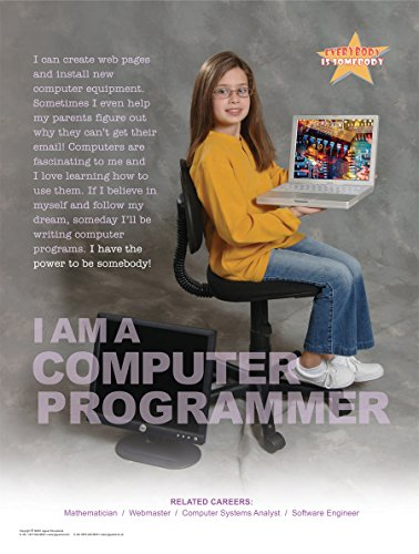 I Am a Computer Programmer Laminated Poster For Elementary and Middle School Student Career Education With a Technology Theme