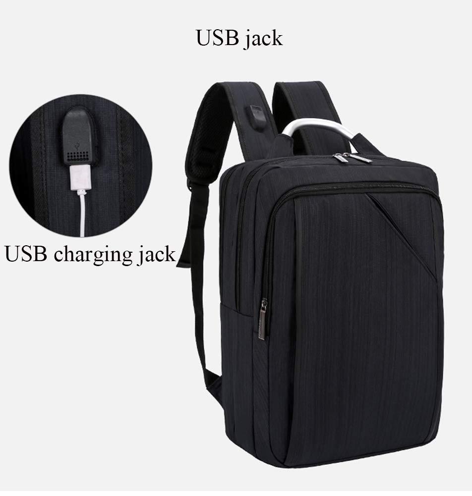 Mochila USB, Computadora Bolsa De Computadora USB, De Negocios, Mochila De Viento De Moda Universitaria (Color : Gris, Tamaño : One Size) 89cc2c