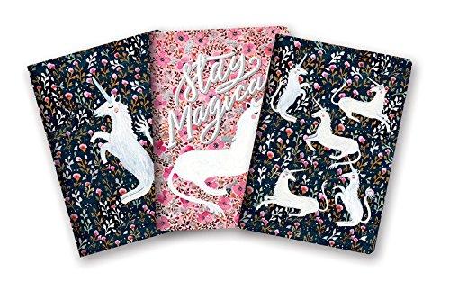 Studio Oh! Notebook Trio with Three Coordinating Designs Available in 12 Bundles, Sonia Cavallini Magical Unicorns