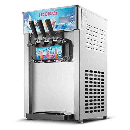 3 Flavors Soft Ice Cream Machine Commercial Frozen Ice Cream Cones Machine 110V