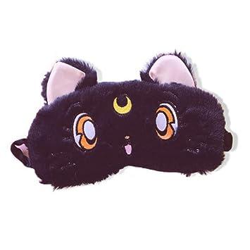 Antifaz para dormir con diseño de gato negro para niños que ...