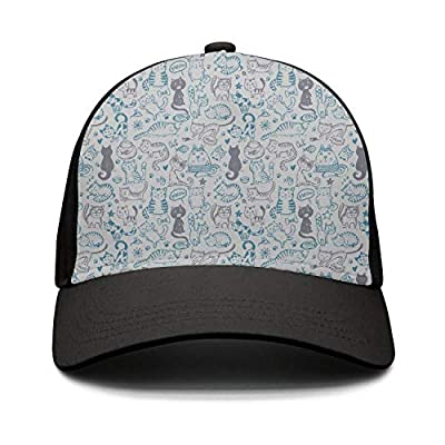 Unisex Cat and Mice Meow Fish Star Paw Pride Baseball Cap