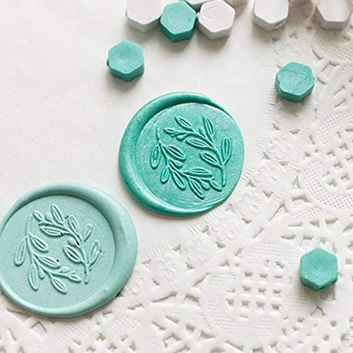 MoGist Beautiful Octagon Wax Seal Beads with Candles Wax Beads Decorating Envelopes Gift for Wax Seal Stamp and Card
