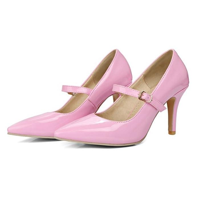 Onewus Damen Dress Mary Jane Pumps mit Kitten Heel Schuhe