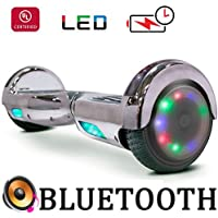"""Go-Bowen New 6.5"""" Hoverboard -Self Balancing Scooter 2 Wheel Electric Scooter - UL Certified 2272 Bluetooth W/Speaker, LED Wheels And LED Lights"""