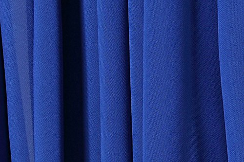 Elegant Neck Womens Halter Tie with Belt Maxi Chiffon Blue Dress Rxc7wqfSd