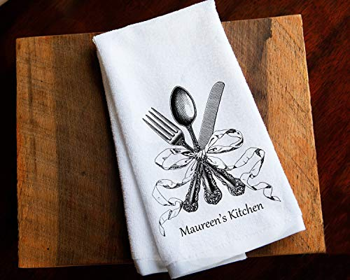 (Personalized Kitchen Towel Mother's Day Gift for Mom)