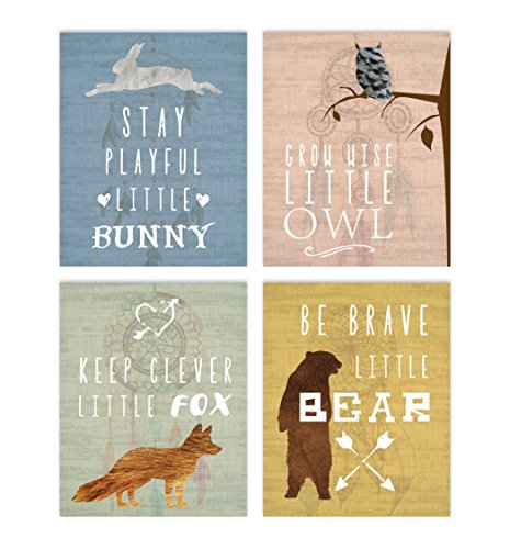 Woodland Nursery, Collection Inspirational Animals 11x14 Print,