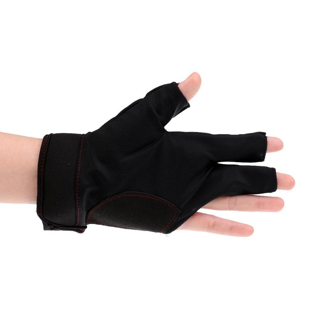 Linke Hand Billard Handschuh Billiard Glove MagiDeal Billard Zubeh/ör: 3 Finger Handschuh komfort und elegant