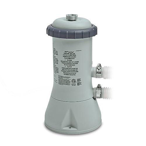 Intex Krystal Clear Cartridge Filter Pump for Above Ground Pools, 1000 GPH Pump Flow Rate, 110-120V