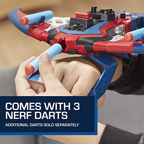 516htS6MonL - Spider-Man Web Shots Spiderbolt Nerf Powered Blaster Toy for Kids Ages 5 & Up