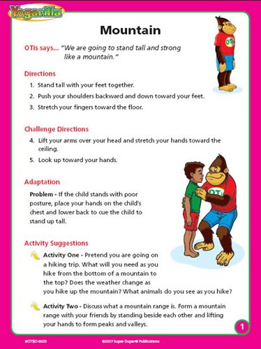 Super Duper Publications Yogarilla Exercises and Activities - Yoga Flash Card Deck Educational Learning Resource for Children by Super Duper Publications (Image #3)