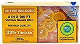 8 inch vacuum bags - Vacuum Sealer Roll & Bag Cutter (8