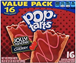 POP TARTS -FROSTED CHERRY JOLLY RANCHER 16 TOASTER PASTRIES ( Limited Edition )( ONE PACK )