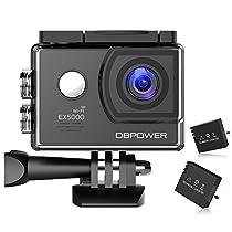 DBPOWER アクションカメラ EX5000 1080P 2インチ液晶搭載...