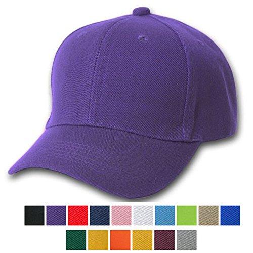 [AStorePlus Hot Sale Soild Color Plain Baseball Cap Adjustable Closure Blank Cotton Hat, Purple] (Purple Hats For Sale)