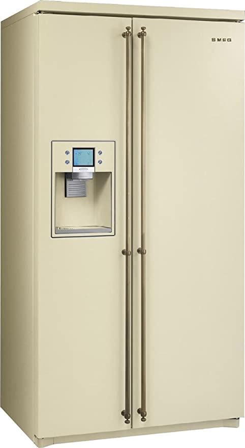 Smeg SBS800PO9 Independiente 538L Crema de color nevera puerta ...
