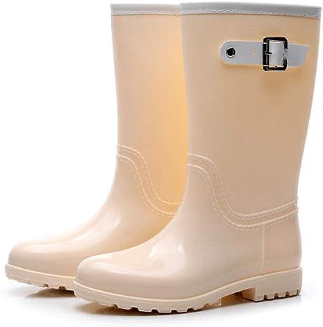 Stivali da Pioggia da Donna,Anti Slip Impermeabile Beige