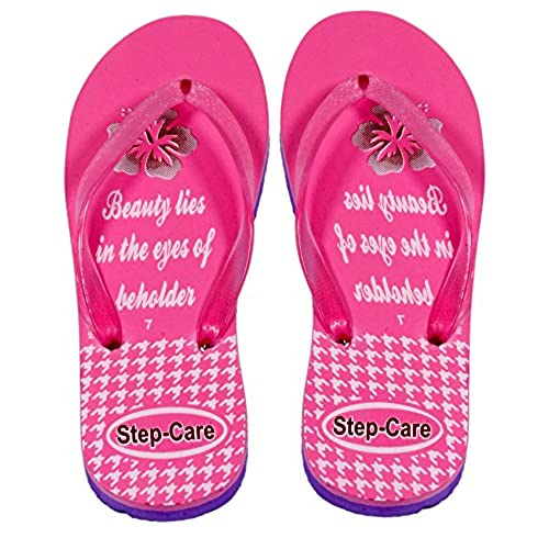 0490b618b2a4a4 delicate Indistar Women s Step Care Soft Rubber Flip-Flops and House  Slippers Hawaii Flip-