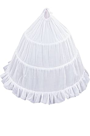 AMJ Dresses Inc Girls 3-hoop Flower Girl Petticoat Skirt 16""