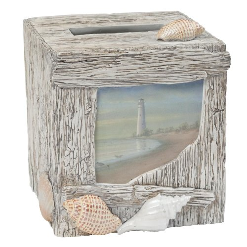 Creative Bath Products At The Beach Boutique Tissue Cover (Resin Boutique Tissue Box)