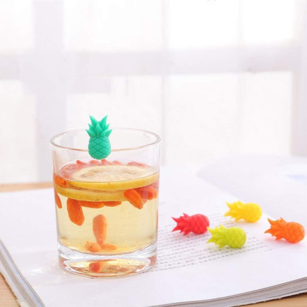 UPKOCH marcador de copa de vino 10pcs marcadores de bebida de silicona etiquetas de encanto de vino para c/ócteles de copas de champ/án de copa de vino martinis color aleatorio