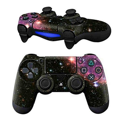 DOTBUY PS4 Design Schutzfolie Skin Sticker Aufkleber Set styling für Sony Playstation 4 Controller X 1 (Starry Pink)