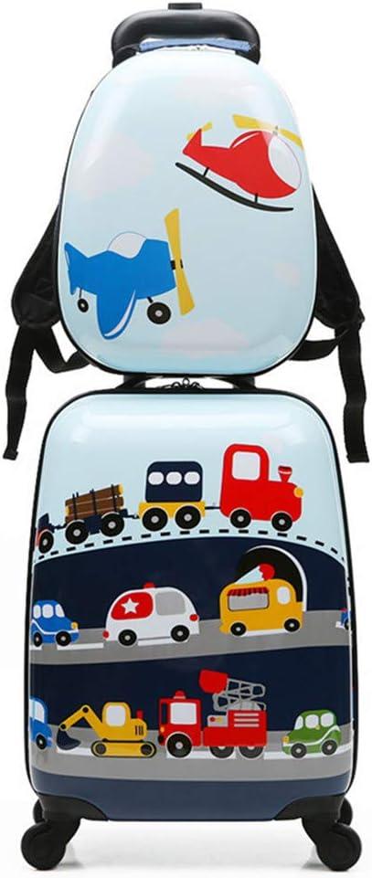 MountRise-Bags Juego de Equipaje de Viaje para niños con 18 Pulgadas, 2 Piezas de patrón de Dibujos Animados de Animales Maleta Dura con Ruedas, Ideal para niños, Escuela, Presente