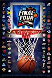 Pro Graphs 2018 Official NCAA Final Four March Madness Basketball Team Logos Print Poster