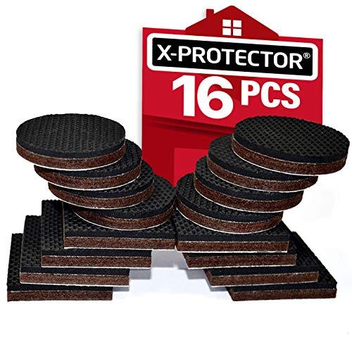 "PREMIUM 16 pcs 2"" Furniture Grippers! NON SLIP FURNITURE PADS X-PROTECTOR"
