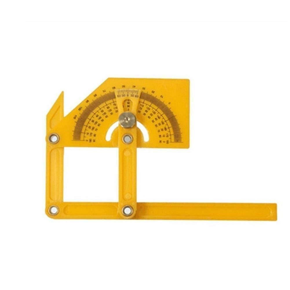 herramientas de medici/ón for bricolaje Handymen Constructores Carpinteros Regla de medici/ón de /ángulo herramienta Plantilla Angleizer calibrado Transportador Angle Finder Medidor Goni/ómetro Angle F