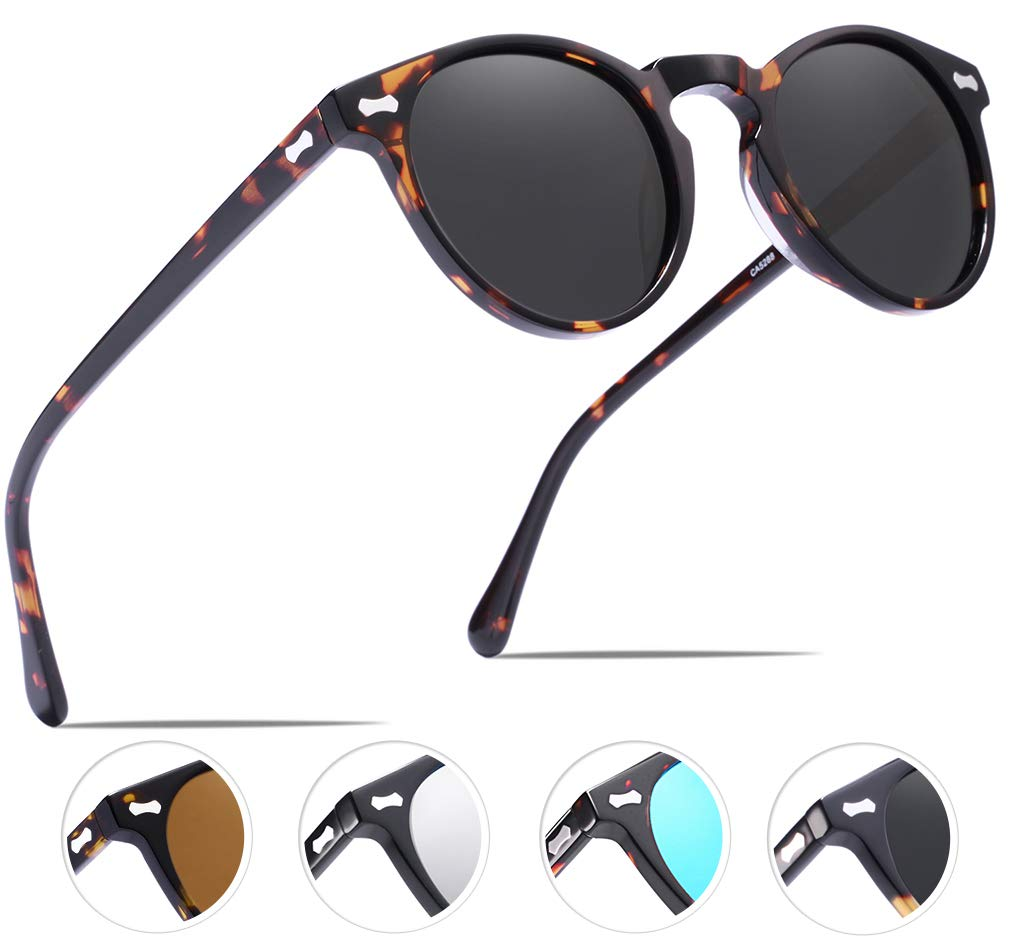 Carfia Vintage Polarized Sunglasses for Men UV400 Protection Acetate Frame by Carfia