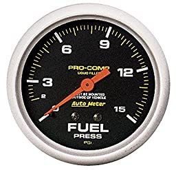 Auto Meter 5411 Pro-Comp Liquid-Filled Mechanical Fuel Pressure Gauge