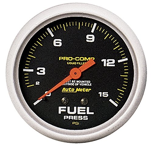 Auto Meter 5411 Pro-Comp Liquid-Filled Mechanical Fuel Pressure Gauge - Sk Pressure Socket