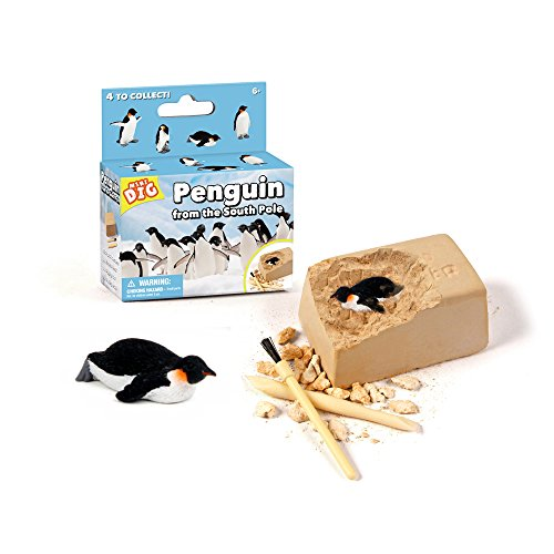 WOW! DIGGING UP! Mini Penguin Dig It Out Excavation Kit Toy, 4 Assorted ()