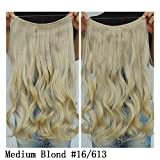 """Secret Halo Hair Extensions Flip in Curly Wavy Hair Extension Synthetic Women Hairpieces 20"""" (Medium Blonde #16/613)"""
