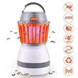 Electric Bug Zapper & Camping Lantern 2 in 1, IPX6 Rainproof Tent Lights Mosquito Killer via USB Charging for Outdoors and Emergencies