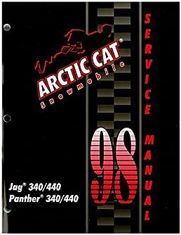 2255 717 1998 arctic cat jag 340 440 panther 340 440 snowmobile  2255 717 1998 arctic cat jag 340 440 panther 340 440 snowmobile service manual manufacturer amazon com books