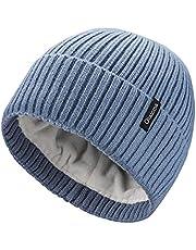 Ocatoma Beanie Hat for Men Women Warm Winter Knit Cuffed Beanie Soft Warm Ski Hats Toque Unisex Gifts for Men Women