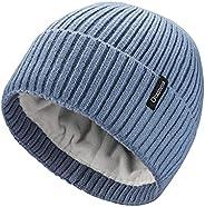 Ocatoma Beanie Hat for Men Women Warm Winter Knit Cuffed Beanie Soft Warm Ski Hats Toque Unisex Gifts for Men