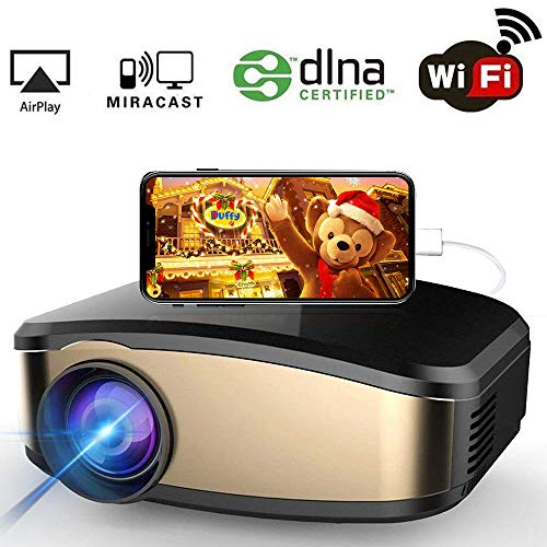 Hd 1080p Overhead Portable Mini Led Lcd Projector Pc Av Tv: WiFi Projector, IBosi Cheng Portable Mini LCD Video