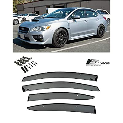 Extreme Online Store Replacement for 2015-Present Subari WRX & STi | EOS Visors JDM Clip-On Style Side Rain Guard Window Visors Deflectors Vents: Automotive