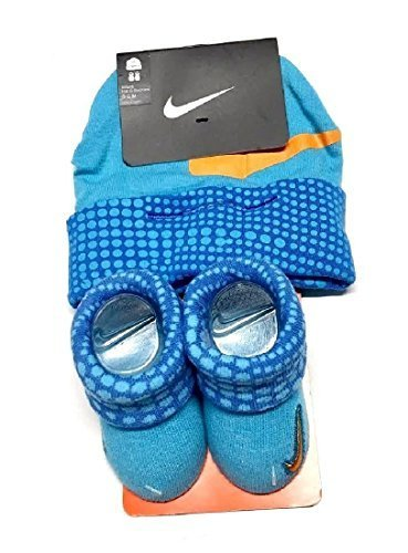 Hat Cap Booties - Nike Baby Boys Big Swoosh Dot Print Hat & Booties Set 0-6M