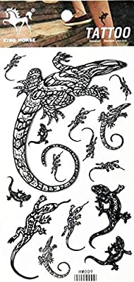 Parita Tattoos Lizard Gekko Salamander Fantasy Animal Cartoon Tattoo Waterproof Temporary Stickers Tattoo Festival Flash Fake Sexy Body Art For Women Men 1 Sheet 13 Amazon Sg Electronics