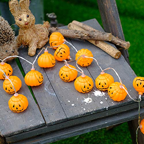 Lovhop Halloween Lights 3D Jack-o-Lantern Pumpkin String Lights Halloween Decoration for All Saints' Day, Carnival, Centerpiece, Patio, Backyard, Fence, Outdoo ()