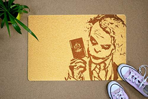 The Joker Supervillain Design 24x16 inch Welcome Mat Outdoor Indoor Funny Rubber Doormat Birthday Wedding Housewarming Home Interior for Women -