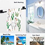 Naanle Cute Print Soft Towel Large Guest Hand Towel Multipurpose for Bathroom, Hotel, Gym and Spa
